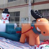 NEW Inflatable Christmas John Deere Model And Snow Man Decorations