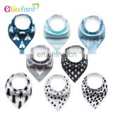 Elinfant 100% Organic CottonBaby Bandana Drool Bibs set of 8 pcs gift for baby