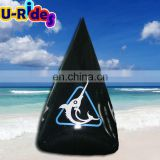 Black Triangle inflatable buoy with logo