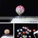 Wholesale diamond cell phone cute anti dust plugs charm /earphone jack dust cap plug MCD-0013