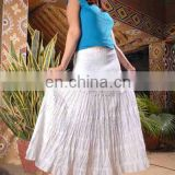 Casual long summer Skirt latest design cotton skirt wholesale skirt maxi skirt