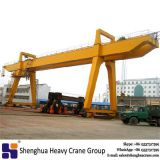 China HSHCL 50 ton double girder Gantry Crane with trolley price