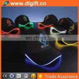 fluorochromatic baseball cap with Led lights and USB charge