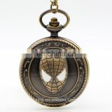 New Arrivals Spider Man Adventure Movies Quartz Pocket Watch Analog Pendant Necklace Mens Womens Watches Gift