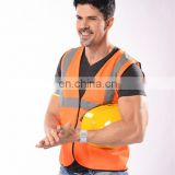EN20471/EN13356 road security orange vest reflective led safety vest