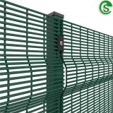 8ft welded wire mesh fencing green vinyl coated clearvu fence for hotel