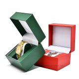 Fashion design PU leather watch gift packaging box with factory price.