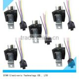 China factory of 12V 40A 40 AMP 5 pin 5 wire Automotive Relay Socket Light Wire Harness