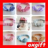 OXGIFT Korean children's hair accessories headdress rabbit ears headband bow headband baby cotton
