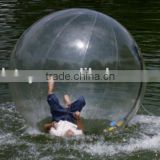 Clear inflatable water balloon for play