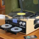 ALL IN ONE TURNTABLE WITH MULTIPLE AUDIO RECORDS /DOUBULE CD RECORD PLAYER/ CD ENCODING TURNTABLE/HIGH END CHOICE