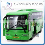 Mini Qute 1:32 kid Die Cast pull back alloy music travel tour bus vehicle model car electronic educational toy NO.MQ 777B