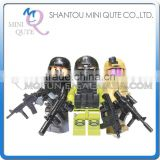 Mini Qute DECOOL 3pcs/set Military army Special Forces Swat building block action figure educational toy NO.301-303