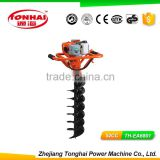 TH-EA6801 52CC gas powered post hole digger for tree transplanting post auger bit