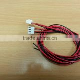 3.96mm 4 pin connector with Ul 1007 20AWG red & black and red & black wire harness
