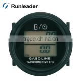 Resettable AC/DC Backlight Hourmeter RPM Meter for Excavator Trimmer