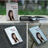 DIY blank Silver Glossy /Brushed Surface Sublimation Printed Lighter,Metal lighters with heat transfer coating
