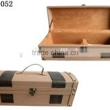 Factory Manufacture Portable Leather Coating Wood Jewelry Gift Box for Wine Storage Case Lining Velvet W1052