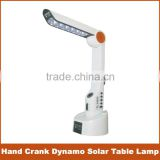 Amazing multifunction hand crank dynamo solar table lamp