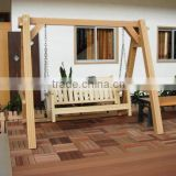 lastest custom design wood portable swing chair
