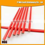 Hot 7'' Oval Red HB Wooden Carpenter Pencil With Logo Available