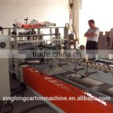 high speed automatic carton box folder gluer machine with strapping machine