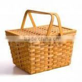 Bamboo pinic basket with handle