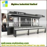 Tempered glass diaplay showcase, combination mall jewelry kiosk design (Manufacturer direct sale)