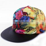 3D embroidery 100% acrylic hip hop painting snapback cap Graffiti dance hat Outdoor sport hats
