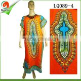 orange women evening dress Fashion design african ankara dashiki made from hollandais wax fabric