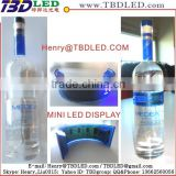 fexible bottle display mini led bottle sign display oem led message sign bottle mini display