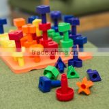 2016 New Product Stack it high pegs and peg board hand eye coordination day care home school