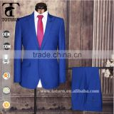 2016 men's coat pant designs wedding suit blue coat pant men suit China man suit factory