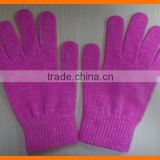 Bright Pink Magic Glove Girl Stretchy Knitted Winter Warm Glove                                                                         Quality Choice