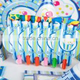 Custom design and logo factory OEM latest design festival sets,party cup plate and straw