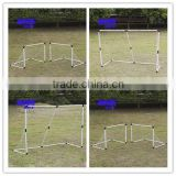 CHILDRENS MINI FOOTBALL GOAL POST TWIN SET KIDS PRACTICE SOCCER GOALS