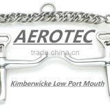 Horse Bits Kimberwicke Low Port Mouth With Double Chain