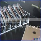 Clear acrylic lipstick holder spinning,acrylic rotating lipstick tower,12 lipstick acrylic storage display stand