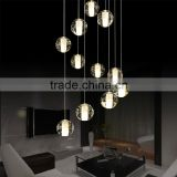 Contemporary lamps glass chandelier crystals LED pendant lighting zhongshan manufacturers