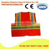 3m high visibility vest safety clothing Orange high visibility workwear motorcycle multi pocket