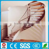 lobby modern indoor curve steel wood staircase design