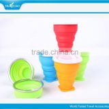 Silicone collapsing foldable cup for travel