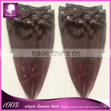 best selling Brazilian remy human natural hair clip in hair extension factory price