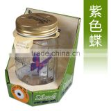 Electronic Purple Butterfly in a Jar Charming Fluttering Butterfly Jay Creative Solar Butterfly Gifts for Children