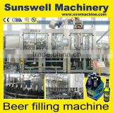 automatic small beer can making equipment/POP -TOP can beverage filling machine