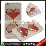 Samco 2016 Hot Liquid Quicksand Love Heart Bling Bling Glitter Skin Back Phone Case Cover for iPhone 6 Plus