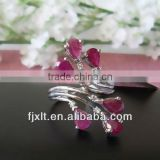Custom Design Fashionable 925 Sterling Silver Ruby Rings for Women