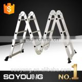 2.6M 3.6M 4.6M Aluminium Multi-Purpose Ladder, Folding Ladder, wholesale hunting ladder tree stands