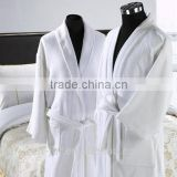 Hot selling 100% cotton white bathrobe using for hotel/ Spa                                                                         Quality Choice