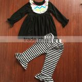 Black strip pants set cheap winter clothes for baby newborn baby winter clothes baby bodysuit